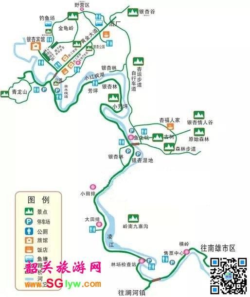 帽子峰林场景区游览图