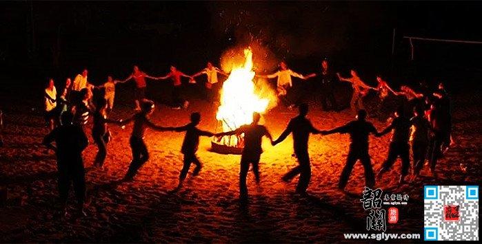惠州巽寮湾篝火晚会